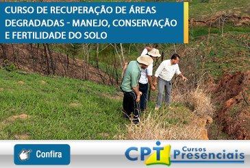 Curso de Recuperação de Áreas Degradadas - Manejo, Conservação e Fertilidade do Solo
